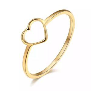 anillo corazon acero