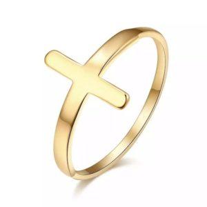 anillo cruz de moda