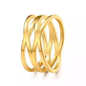 anillo dorado para mujer