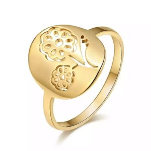 anillo mujer flor