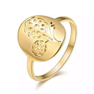 anillo flor regalo original